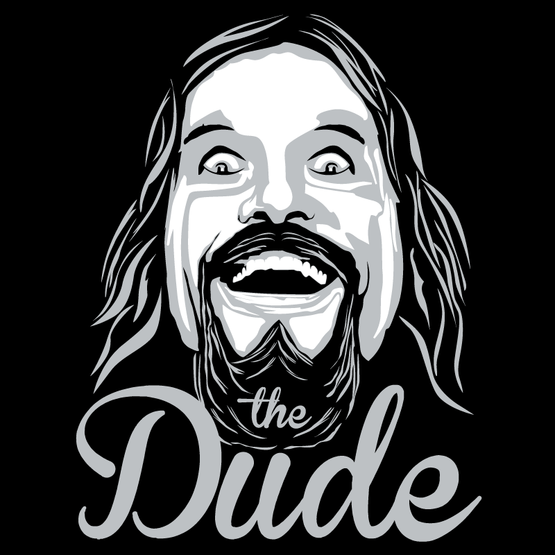 the dude t shirt from pixda