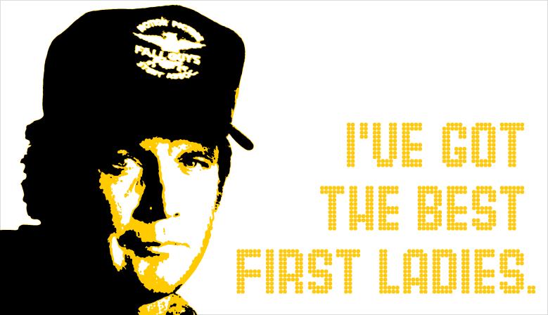 Lee Majors - I've got the best first ladies.